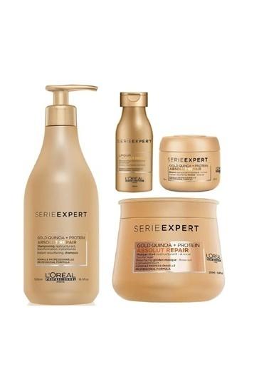 L'oreal Professionnel Loreal Absolut Set (Şampuan 500 Ml+ Maske 250 Ml+ Şampuan 100 Ml+ Maske 75 Ml) Renksiz